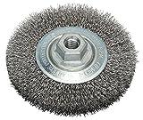 Bosch Professional Scheibenbürste, Stahl, gewellter Draht, 0,3 mm, 115 mm, 11000 U/min, M 14, 2608622100