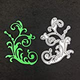 FNKDOR Fustelle per Scrapbooking Fustella Fustellatrice Stencil DIY Metallo Embossing Cutting Dies per Carta, Accessori per Big Shot e Altre Macchina (D)