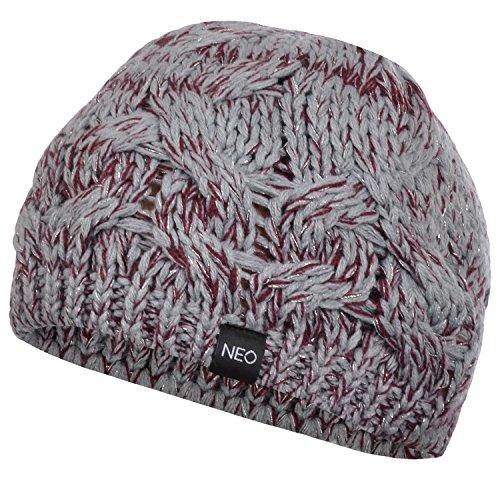 adidas NEO - Bonnet d'hiver style boyfriend - tricot torsadé épais - femme - taille unique - Gris