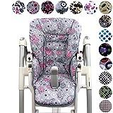 BambiniWelt - Funda de repuesto para silla Peg Perego Prima Pappa Diner (7colores), diseño de búhos Eule Motiv §2