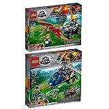 Lego Jurassic World 2er Set 75928 75926 Blue's Hubschrauber-Verfolgungsjagd + Pteranodon-Jagd