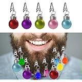 Locisne Multicolore 12 Mini Décorations Barbe Bauble Babioles avec des Cheveux Épés Nouveauté Amusant Cadeau Festif pour Noël