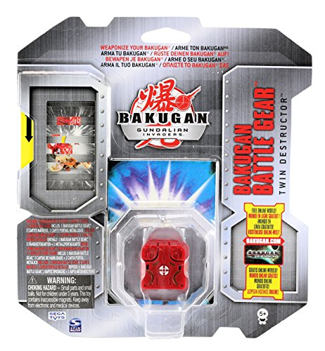 Bakugan Gundalian Invaders - Battle Gear - Pyrus TWIN DESTRUCTOR (Red) [Silver]
