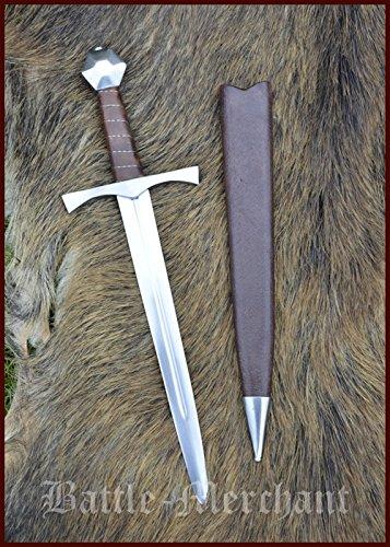 Mittelalterdolch für leichten Schaukampf, mit Scheide, SK-C Dolch Stiefelmesser LARP Ritter Samurai Mittelalter Verkauf ab 18 Jahren (Verkauf Für Samurai Anzüge)