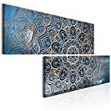 murando Bilder Mandala 180x90 cm - Vlies Leinwandbild - 2 Teilig - Kunstdruck - modern - Wandbilder XXL - Wanddekoration - Design - Wand Bild - Orient f-A-0596-b-t