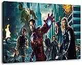 Marvel Helden Format 100x70 cm Bild auf Leinwand, XXL riesige Bilder fertig gerahmt mit Keilrahmen, Kunstdruck auf Wandbild mit Rahmen