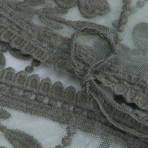 Walant Damen Spitze Häkeln Strandkleid Bademode Bikini Badeanzug Strickjacke Cover Ups ArmyGreen