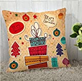 The Purple Tree Merry Christmas Cushion Cover (16x16 inches) 1 pc, Christmas Cushion Covers, Christmas Decorations, Christmas Gifts, Christmas décor STFC00372