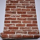 Blooming Wand Vintage Rost-Faux Brick Strukturtapete, für Wohnzimmer Küche Bad, große Größe, 54quadratisch FT/Rolle, 57104
