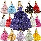 ZITA ELEMENT 6er Mode Kleider für Fashionistas Barbie Puppe Prinzessin Abendkleid Brautkleider Outfit Kleidung Kleid Pupenkleidung Spitzenkleider Ballkleider