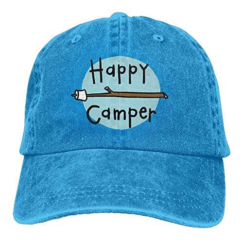 qinhanxinchengxianlibaihuodian Sport Denim Cap Happy Camper 2 Männer Frauen Baseball Cap Verstellbare Baseball-Mütze