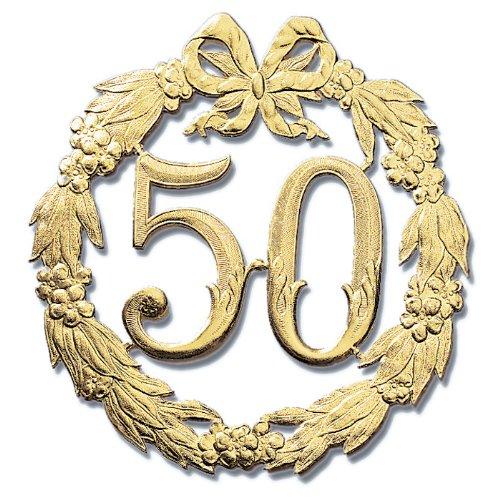 NEU Festliche Zahl 50, gold, Ø 24 cm