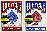 Unbekannt Bicycle US Playing Card 60808 - Lote de barajas inglesas (2 x 54 cartas)