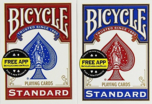 Bicycle US Playing Card 60808 - Lote de barajas inglesas (2 x 54 cartas)