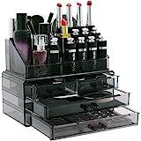 Display4top cosmetico dell' organizzatore di immagazzinaggio 4 cassetti in impermeabile Crystal, Make Up dell…