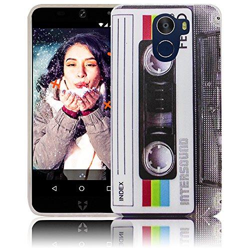 thematys WileyFox Swift 2 X 5.2 Kassette Retro Handy-Hülle - Silikon - staubdicht, stoßfest & leicht - Smartphone-Case WileyFox Swift 2 X 5.2