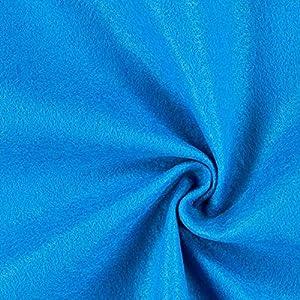 Fabulous Fabrics Filzstoff blau, 1 mm dick, 90 cm breit - Filz zum Nähen und Basteln von Taschen, Tischdeko, Filzkörbe und Wohnaccessoires - Meterware ab 0,5m