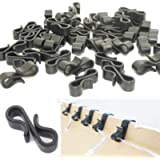 Starlife 115Pcs Gutter Hooks Clips for Outdoor Christmas Lights, Mini S Clips Hangers for Xmas Icicle Fairy String…
