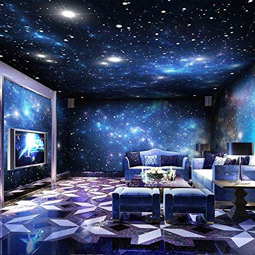 wanpaper Tapete Vliestapete Decke, Cosmic Star 3D Theme Wandleiste, Ktv Hintergrund Dekoration, Coffee Shop Decke Hängende Malerei <430 × 280Cm>
