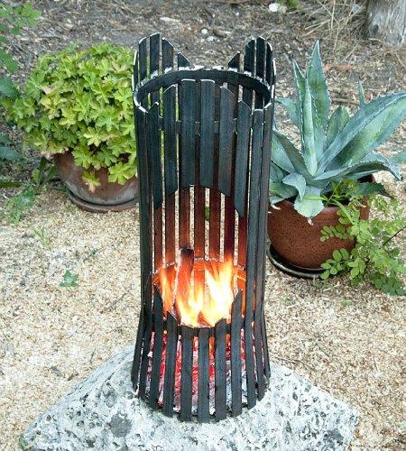 Colonna di fuoco Albero Cesto di fuoco 80002 Braciere 60cm Metallo Focolare (Albero Di Fuoco)