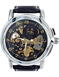 ORKINA MG015-L-Black - Reloj , correa de acero inoxidable color plateado