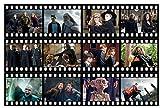 Harry Potter-Filmstreifen, jeder Streifen kommt 3 Mal vor, 6cm hoch und 27,5cm lang, essbarer Zuckerguss, vorgeschnitten