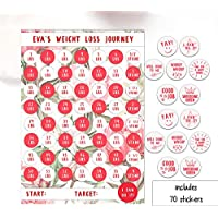 Weight Loss Chart, 1-4 Stone laminated sheet with stickers, Diet Reward Chart, Weight loss motivation, Slimming World, Weight Watchers, Flowers