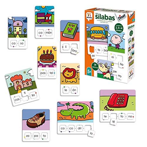 Diset- Aprendo 5 años Juguete educativos Las Silabas...