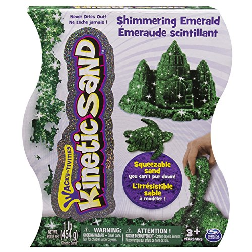 Emerald Spas (Kinetic Sand 1lb Green Shimmering Emerald)
