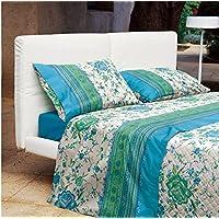 Bassetti Granfoulard.- Juego de sábanas Porticciolo V3 Azul para cama de 150 cm