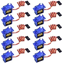 Servo Motor, Micro Servo Motor SG90, Servo, 9 g, RC robot, Control para Helicóptero, Avión, Barco, LKY66-UK-10