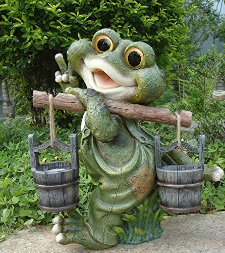 Design 1 Frosch XXL 40 cm Hoch Deko Garten Gartenzwerg Figuren Dekoration