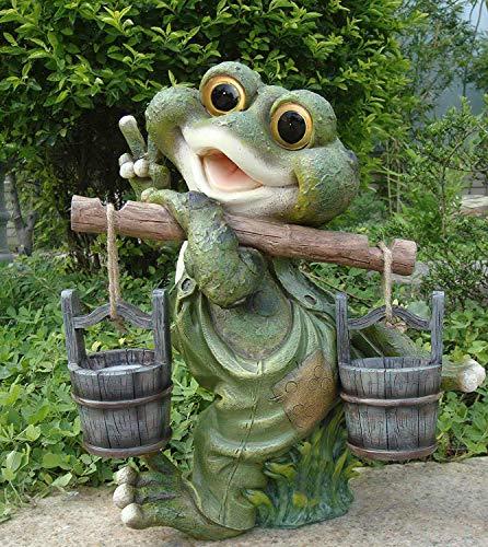 Design 1 Frosch XXL 40 cm Hoch Deko Garten Gartenzwerg Figuren Dekoration | Garten > Dekoration > Dekofiguren | GMMH