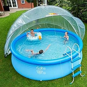 sunny tent estl tente ronde polyvalente pour piscines trampolines enterr s bacs sable. Black Bedroom Furniture Sets. Home Design Ideas