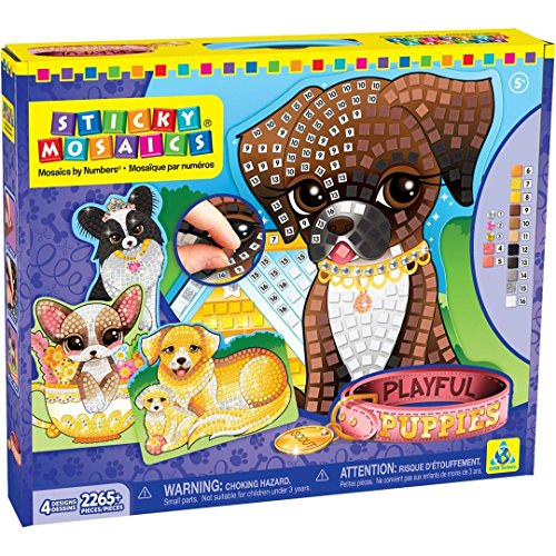 Orb Factory 73046 - Sticky Mosaics Puppies, Lern und (Elfen Pixel Kit)