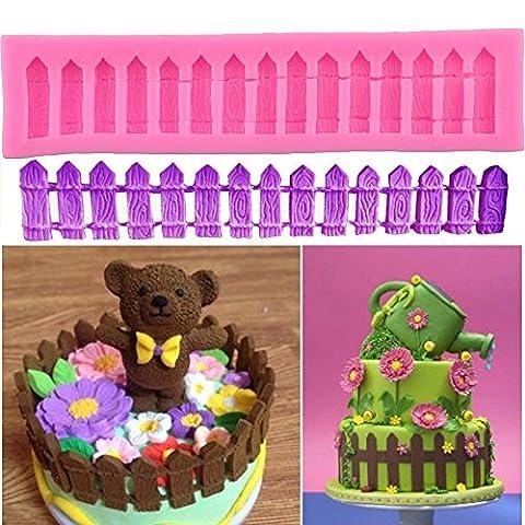 Papillon Fondant en silicone Moule à sucre pour décoration de gâteaux Fence Pattern