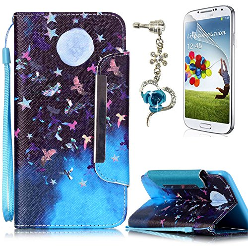 Cover Galaxy S7 Edge Custodia , Retro Diamante strass Design Con Cinturino da Polso Magnetico Snap-on Book style Internamente Silicone TPU Custodie Case in pelle Protettiva Flip Per Samsung Galaxy S7  B-02