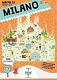 Mappa di Milano illustrata. Ediz. italiana e inglese