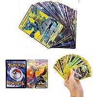 zhybac 100 Carta Pokemon,Pokemon Card, Pokemon Flash Card, Pokemon Card, Carta per Bambini, 100 Carte GX Complete…