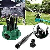 Kicode 360 Grad Mehrkopf Garten-Sprenger Rasen Bewässerung Beregnungsanlagen Wasserspray Autowerkzeug