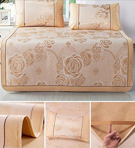 Seide Doppelbett (Coole Matratze EIS-Seidenmatte dreiteilige 1,8m Faltbare, klimatisierte Matte 1,5 Meter Einzel-Doppelbett-Sommermatte Coole Bambusmatte (Farbe : B7, größe : 180 * 200cm))
