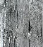 Papier Peint Imitation Bois Chinois Rétro Papier Peint Texture Bois PVC Hôtel,B-OneSize