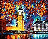 XIAOBAOZISZYH DIY Malerei Figuren London DIY Digitales Leinwand Ölgemälde Wohnkultur Wohnzimmer Wandkunst.40 × 50 cm