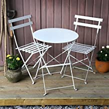white bistro patio set