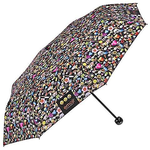 Perletti - Parapluie Emoji pliant pour sac à main -