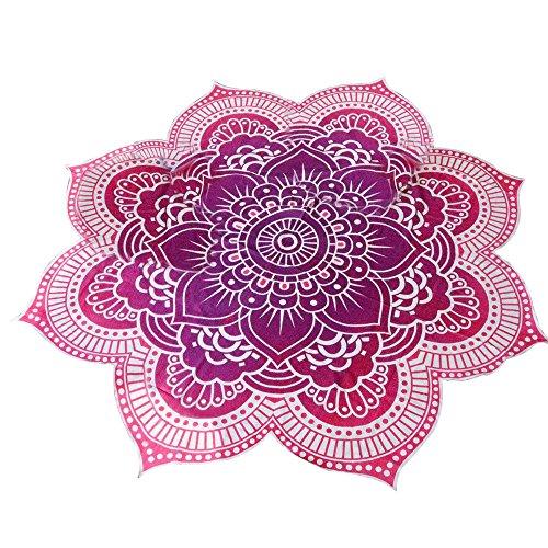 Eizur mandala teli mare telo spiaggia coperta chiffon beach towel beach throw stile hippy copriletto arazzo decorativo tovaglia pannello yoga tappeto wall tapestries rosso