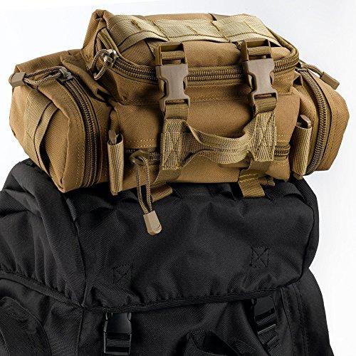 Imagen de yakeda®bolsos del alpinismo al aire libre tácticos hombros  bolsas de hombres y mujeres bolsa impermeable de gran capacidad de camuflaje  marco interno paquete 65l  11 color de barro  alternativa