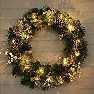 Weihnachtskranz-mit-20-LEDs-Girlande-Tannengirlande-Haustr-Herbtkranz-DIY-Girlande-Knstlich-Trkranz-Deko-45cm-fr-Weihnachten-Party