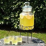 bar@drinkstuff Fontaine à limonade avec support Verre 5,6l