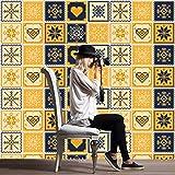 JY ART Grüne Designs Folie Fliesensticker u. Fliesenaufkleber | Klebefolie Fliesen Aufkleber Folie Sticker für Küche u. Bad-Fliesen Wanddeko | 20x20 cm - HL079-20 Stück, 15 * 15cm